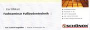 Zertifikat - SCHÖNOX-Seminar FUSSBODENTECHNIK 2010