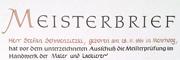 Meisterbrief - Handwerk Maler und Lackierer
